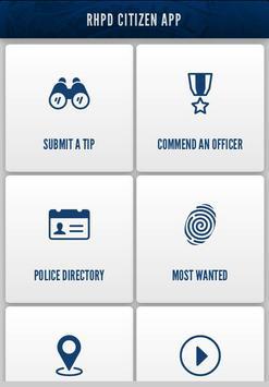 RHPD Citizen App poster