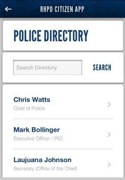 RHPD Citizen App screenshot 2