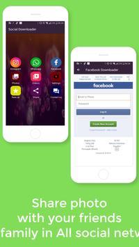 Go downloader  Video : Media Social All in one screenshot 3