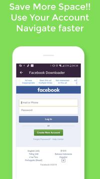 Go downloader  Video : Media Social All in one screenshot 1