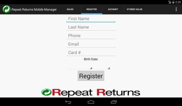 Repeat Returns MM - SF screenshot 2