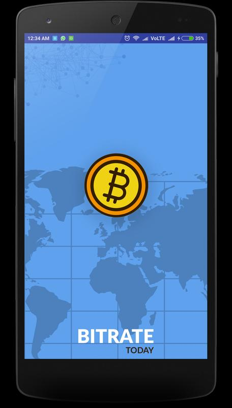 Bitcoin Live Rate Poster