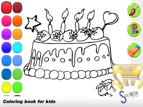 Cake Coloring Book poster