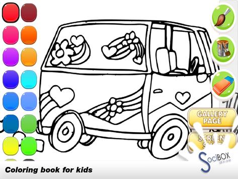 Cars Coloring Book poster