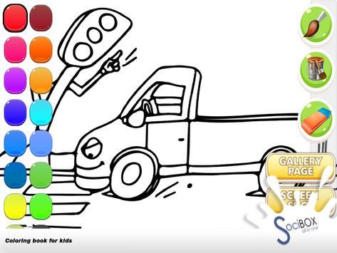 Cars Coloring Book screenshot 13