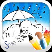 Rain Coloring Book icon