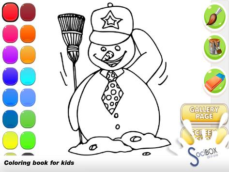 Snowman Coloring Book poster