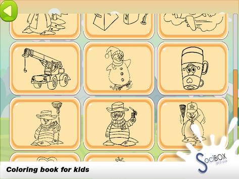 Snowman Coloring Book apk screenshot