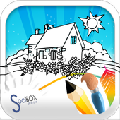 Town Coloring Book icon