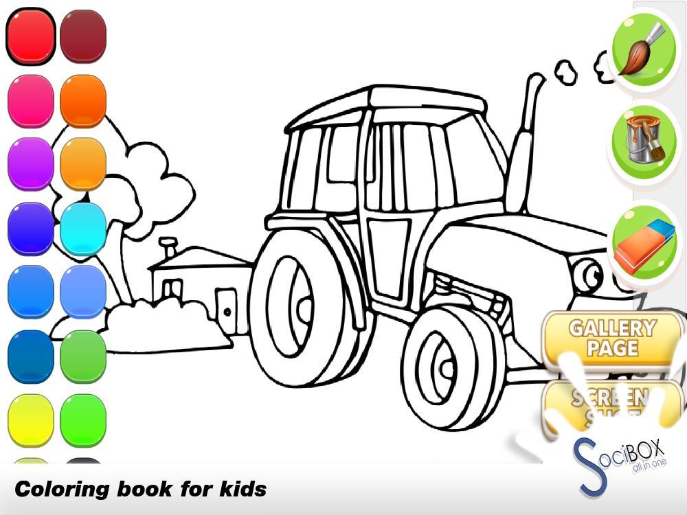 Tractor Coloring Book für Android - APK herunterladen