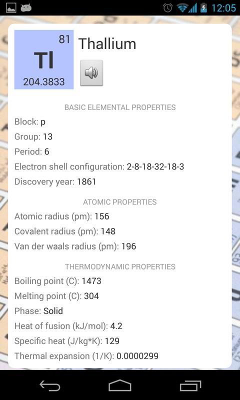 Tabla peridica descarga apk gratis libros y obras de consulta tabla peridica captura de pantalla de la apk urtaz Image collections