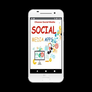 Social Media Apps - Simple and Easy use poster