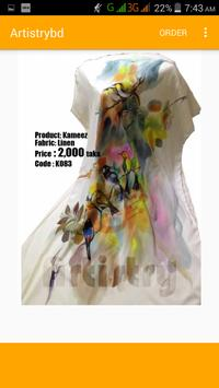 Hand Painted dress poster