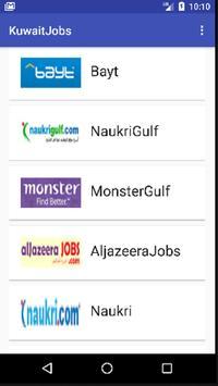 Jobs in Kuwait poster