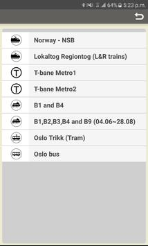RailMapNote  Norway Oslo Train poster