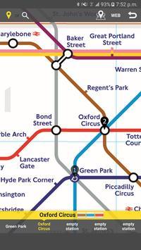 RailNote Lite UK London Tube screenshot 2