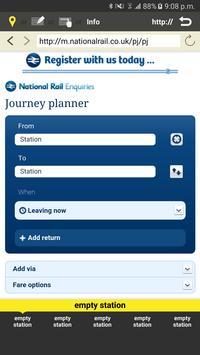 RailNote Lite UK National Rail screenshot 5