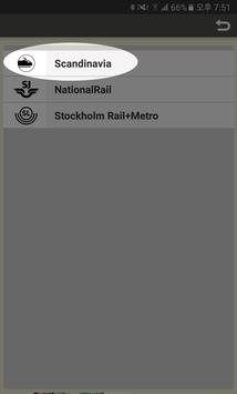 RailNote Sweden Rail Way Map poster