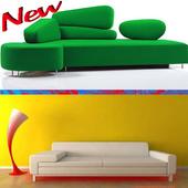 Minimalist design sofa icon