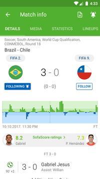 SofaScore Спорт онлайн скриншот приложения