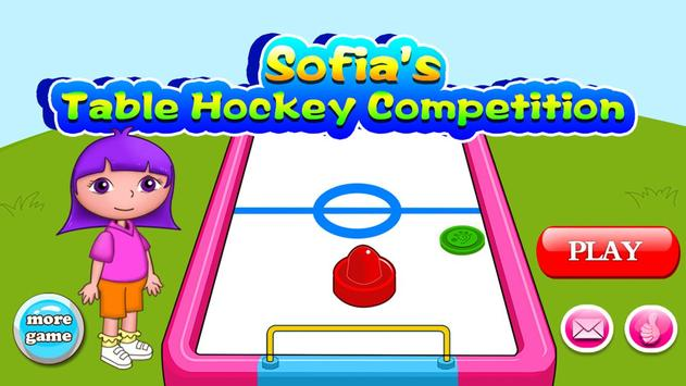 Sofia table hockey competition poster
