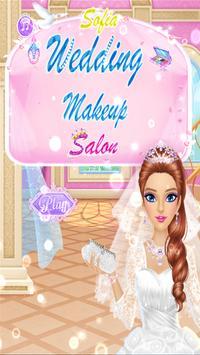 👰 Princess Sofia wedding makeup salon poster
