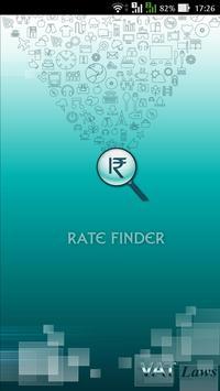 Rate finder poster