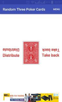 Random Three Poker Card poster