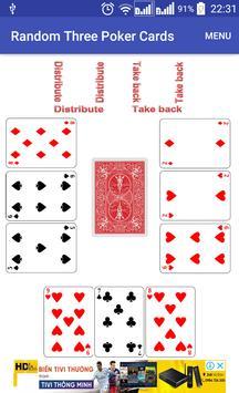 Random Three Poker Card screenshot 6