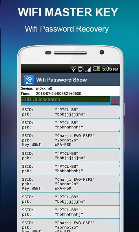 Master Wifi Key Password Show : Wifi Manager for Android