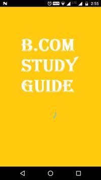 B.Com Study Guide poster