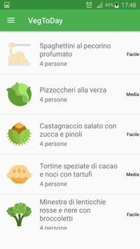 VegToDay - Gustose ricette vegetariane e vegane apk screenshot
