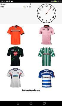 Quiz football shirt apk screenshot