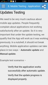 Learn Mobile Testing apk screenshot