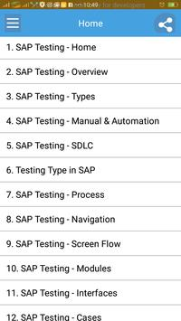 Learn SAP Testing poster