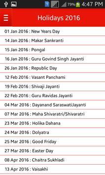 Bank Holiday Calendar 2016 screenshot 3