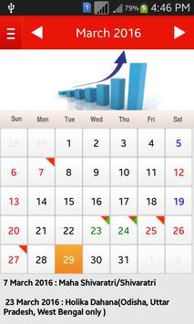 Bank Holiday Calendar 2016 screenshot 1
