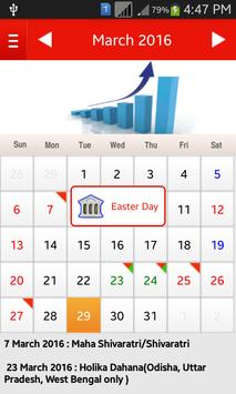Bank Holiday Calendar 2016 screenshot 2