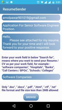 Resume Sender Send Resumes Cv And Cover Letters Apk Download