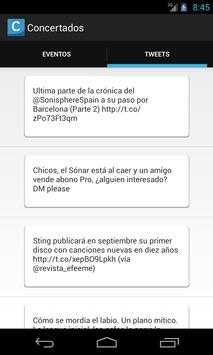 Concertados apk screenshot