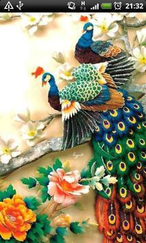 ColorFul Peacock LiveWallpaper apk screenshot