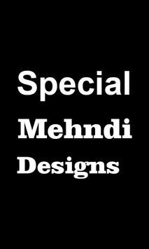 Special Mehndi Design poster