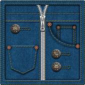 Blue Jeans Zipper Lock icon