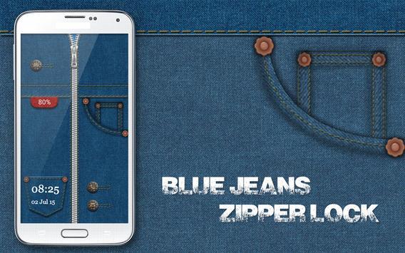 Blue Jeans Zipper Lock poster