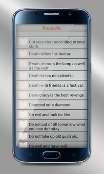 Proverbs Dictionary apk screenshot