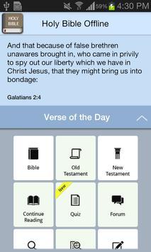 Holy Bible Offline apk screenshot