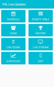 PSL Live Updates apk screenshot