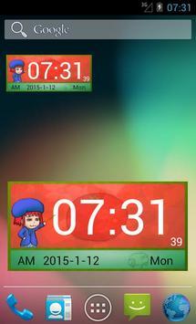 Tomato Girl's Clock Widget II poster