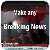 Breaking News Photo Maker icon