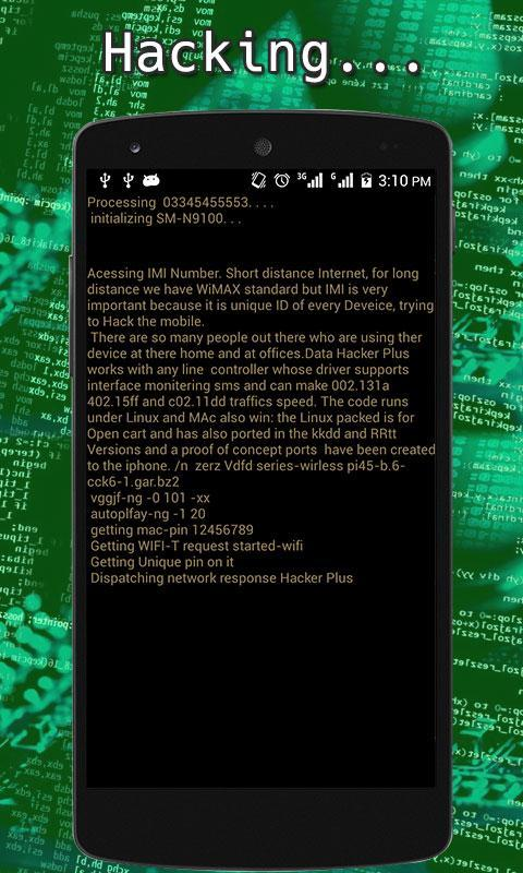 Mobile Data Hacker Prank for Android - APK Download